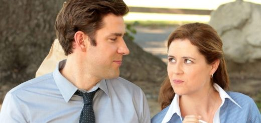 Джим и Пэм в офисе